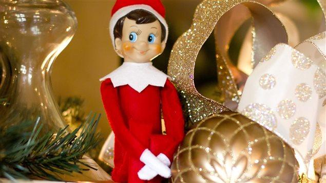 Elf sitting on the Shelf