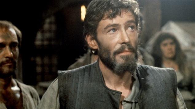 Peter O'Toole en 1973 en la película « Man of La Mancha », una adaptación de