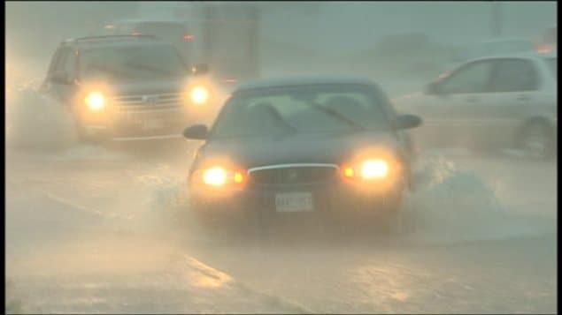 Pluies torrentielles à Toronto en juillet