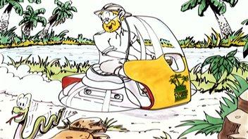 Un dessin des Aventures de Robinson Curiosité.