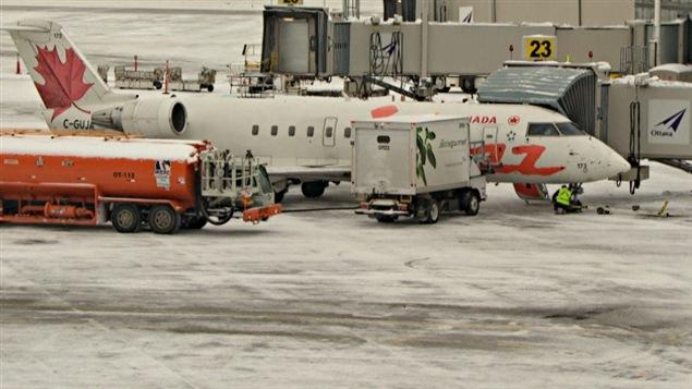 L'aéroport d'Ottawa en hiver.