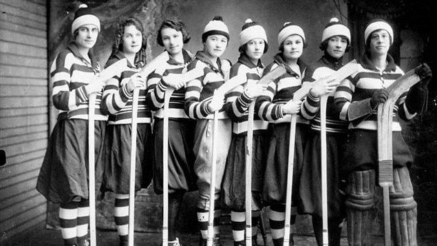 L'équipe de Gore Bay sur l'île ontarienne de Manitoulin en 1921