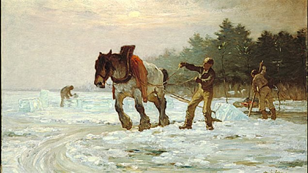 Les coupeurs de glace par Horatio Walker