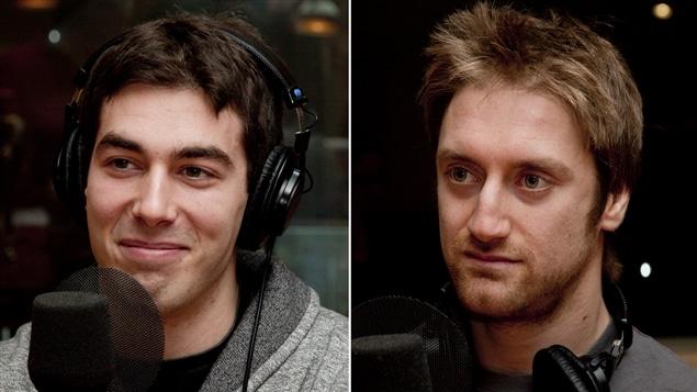 Les cofondateurs du site Paléo Québec, Guillaume Lacerte et Vincent Mandeville.
