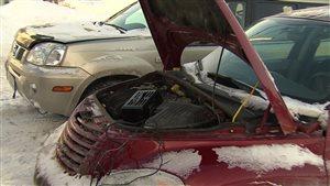 Froid extrême: mauvais temps pour les voitures