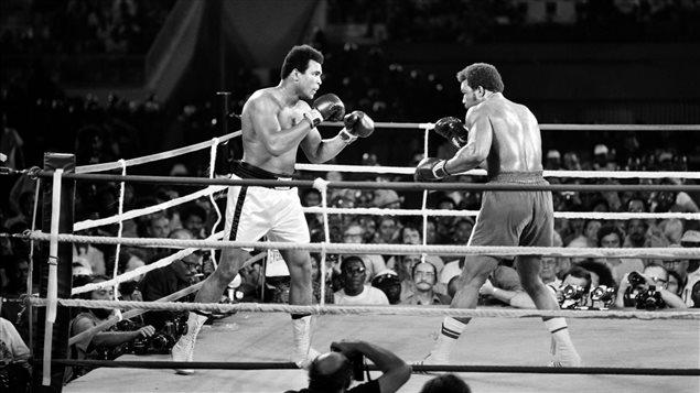 Le combat entre Mohmed Ali et George Foreman
