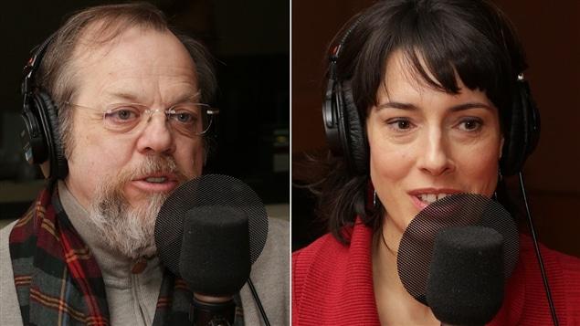 Les comédiens Guy Nadon et Marie-Hélène Thibault