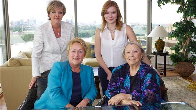 Sophie Thibault, Pauline Marois, Flavie Payette-Renouf et Lise Payette
