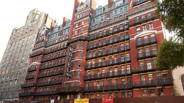 Une vue de l'hôtel Chelsea à New York.