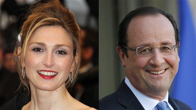 L'actrice Julie Gayet et le président François Hollande