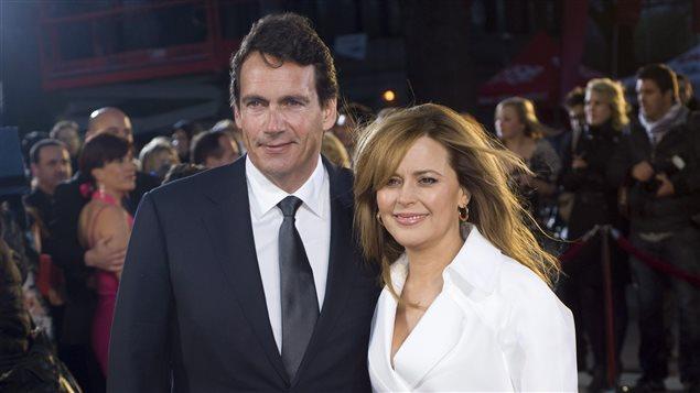 Pierre-Karl Péladeau et Julie Snyder sur la tapis rouge du Gala Artis, en 2012