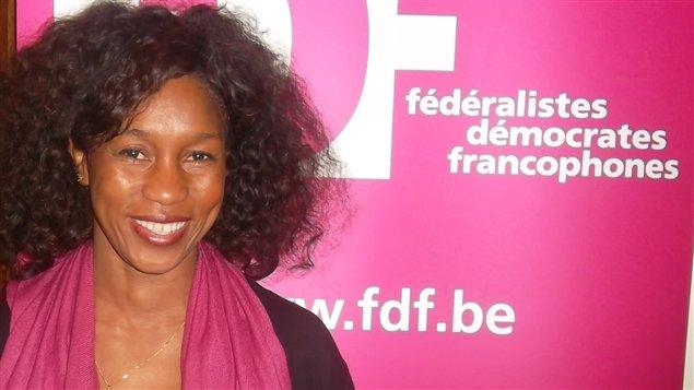 Fatoumata Sidibé, députée belge du parti fédéraliste bruxellois.