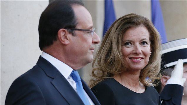 Le pr�sident fran�ais, Fran�ois Hollande, et sa compagne, Val�rie Trierweiler (archives)