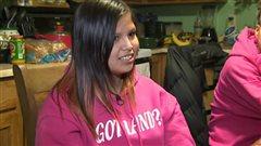 Tenelle Star, élève de 13 ans en 8e année à l'école de Belcarres, en Saskatchewan, accorde une entrevue en janvier 2014.