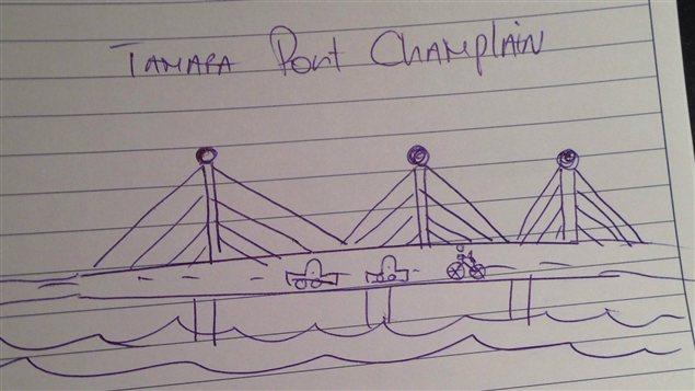 L'esquisse du futur pont Champlain de Tamara Altéresco
