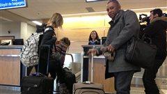 Le groupe de fransaskois lors de leur départ vers Vancouver