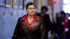 Fatima Houda-Pepin à son arrivée au caucus libéral, le 20 janvier 2014