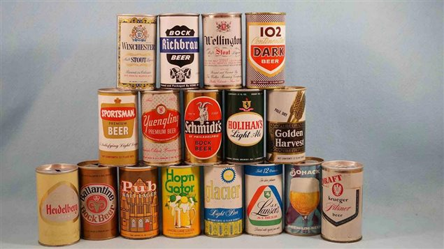 Vieilles canettes de bière