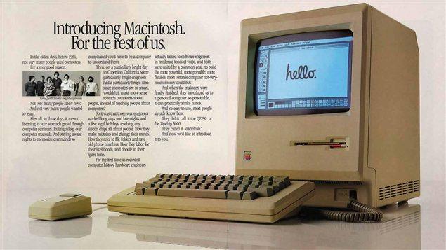 Une publicité de Macintosh