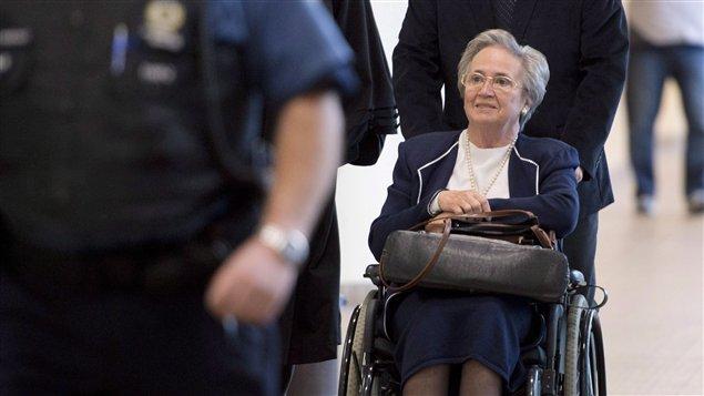 Lise Thibault au palais de justice de Québec en juillet 2014