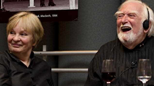 Nicole Dumais et Jacques Languirand à la fête des 80 ans de l'animateur de Par 4 chemins