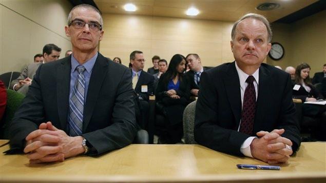 Les responsables des services canadiens d'espionnage Michel Coulombe et John Forster ont comparu mardi devant un comité du Sénat.