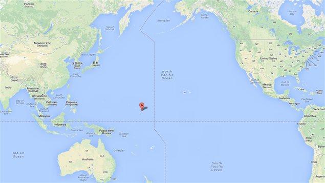 Le pêcheur a été découvert au large des îles Marshall, dans l'océan Pacifique