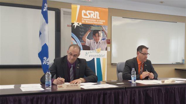Conférence de presse de la Commission scolaire de Rouyn-Noranda