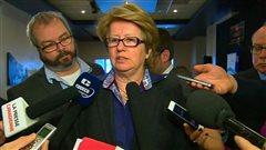 La ministre du Travail, Agnès Maltais, mercredi, à Shawinigan