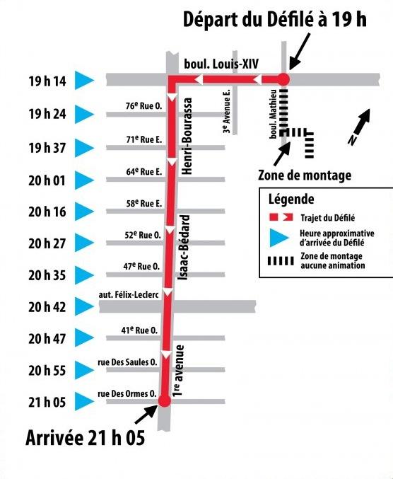 Carte du défilé