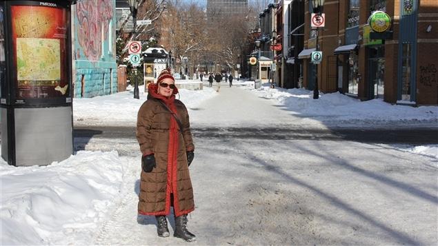 Christine Gosselin, conseillère d'arrondissement, sur la rue Prince-Arthur