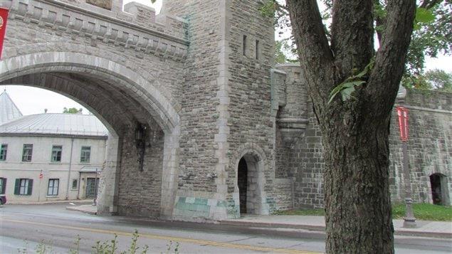 Porte de fortification dans le Vieux-Québec