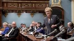 La première ministre Pauline Marois à l'Assemblée nationale, le 11 février