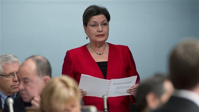 Fatima Houda-Pepin à l'Assemblée nationale, le 12 février