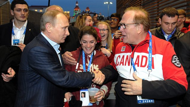 Vladimir Poutine rencontre Marcel Aubut (14 février 2014)