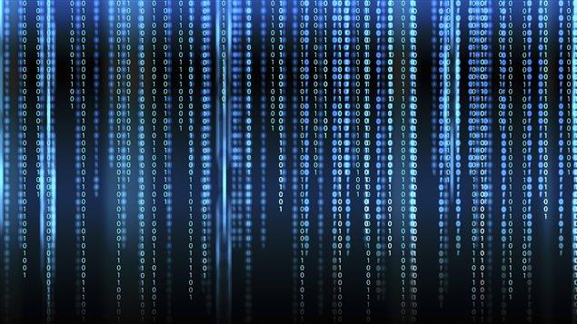 Matrice de code binaire.
