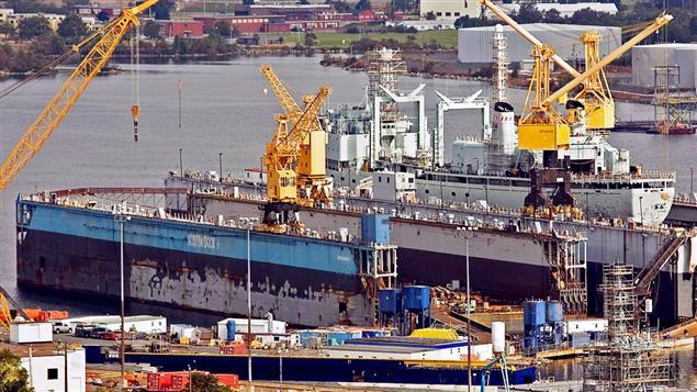Astillero naval Irving en Halifax, Nueva Escocia.