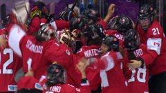 L'équipe féminine de hockey