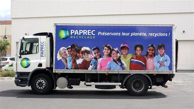 Un camion de l'entreprise française Paprec.