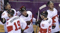 Victoire du Canada sur la Lettonie à Sotchi (19 février 2014)