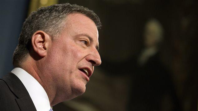 Le maire de New York, Bill de Blasio