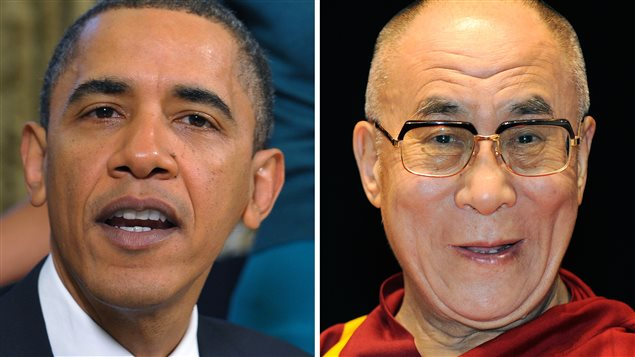 El presidente de Estados Unidos, Barack Obama y el Dalai Lama.