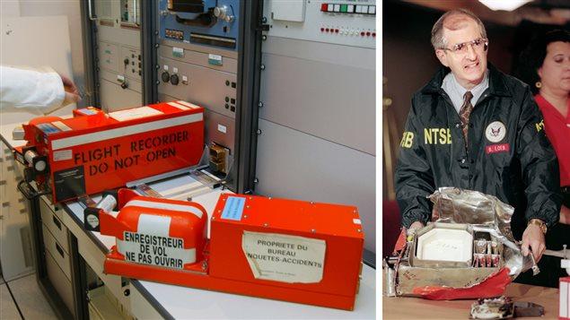 Deux boîtes noires à l'aéroport Paris-Le Bourget et boîte noire retrouvée en 1996 après un accident d'avion près de Long Island, dans l'État de New York