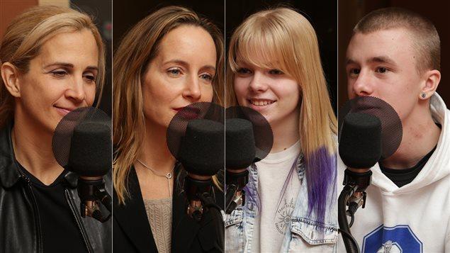 Sophie Ferron, Dre Lysanne Goyer, Jessica et Colby
