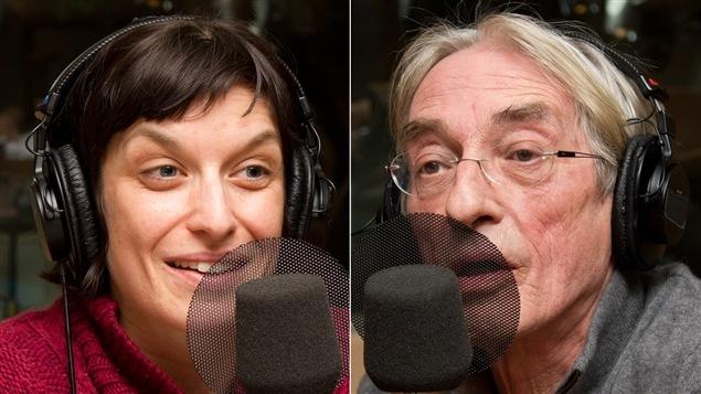 L'artiste multidisciplinaire Emmanuelle Calvé et l'auteur et documentariste Richard Desjardins.