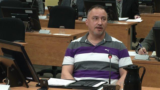 Bernard Gauthier lors de son témoignage à la commission Charbonneau