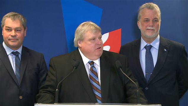 Yves Bolduc, Gaétan Barrette et Philippe Couillard sont parmi les cinq médecins à se présenter aux élections provinciales de 2014..