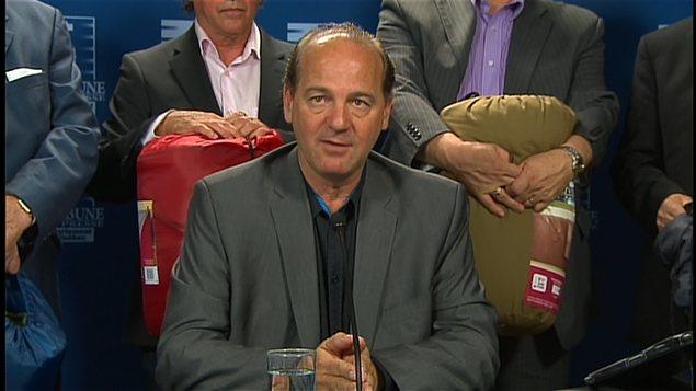 Yves Ouellet, alors qu'il était porte-parole de l'Alliance syndicale l'été dernier.