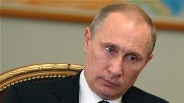 Le président russe Vladimir Poutine lors d'une séance de travail, le 28 février dernier