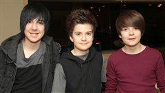 Les frères Cornellier du trio My Hidden Side : Jérémy, Tommy et Alex